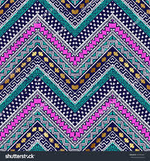 Tribal Print Wallpaper by Colored Zigzag Tribal Seamless Pattern Aztec Stock Vector