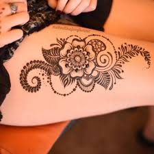 floral thigh henna design henna tattoos and piercings
