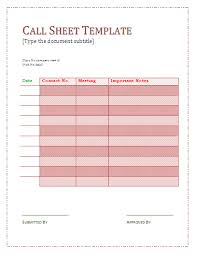 Sheet Templates Call Sheet Template Formsword Word Templates Sle Forms