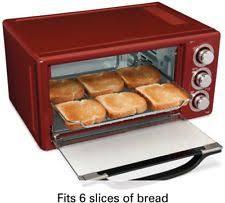 Six Slice Toaster Hamilton Beach 6 Slice Toaster Convection Broiler Oven Ebay