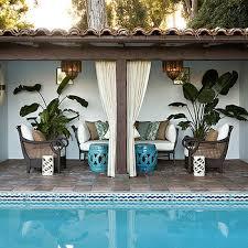Outdoor Cabana Curtains Pool Cabana Curtains Design Ideas