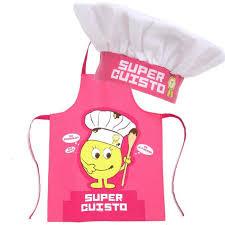 tablier et toque de cuisine tablier et toque cuisinier pour enfant