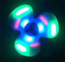 fidget spinner light up blue led light up fidget spinner with speakers blue