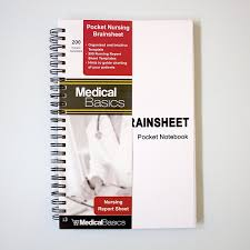 Nursing Report Sheet Templates Amazon Com Pocket Report Sheet Notebook Brain Sheet