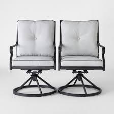 Swivel Dining Chair Chester 2pk Aluminum Swivel Rocker Patio Dining Chair Threshold