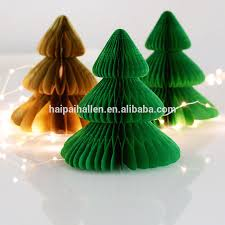 christmas tree shaped tissue paper honeycomb ball for home
