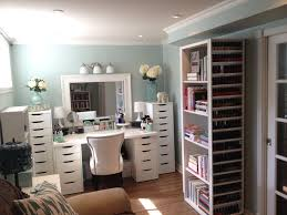 makeup room and makeup collection storage and organization july