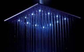 bathroom colour changing led rain shower head light home shower