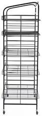 Bakers Rack 5 Shelf Bakers Rack Adjustable Shelves U0026 2 Sign Holders