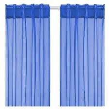 Blue Sheer Curtain Nip Ikea Sarita 57x118 Blue Sheer Curtain Panel Set Of 2 Hem