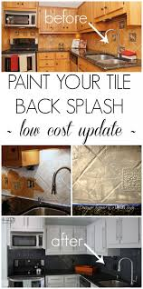 painted kitchen backsplash photos how to paint a tile backsplash my budget solution tutorials