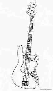 fender jazz bass guitar outline labelling