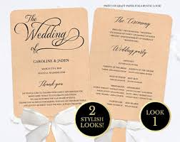 Fan Wedding Program Kits Fan Wedding Program Etsy