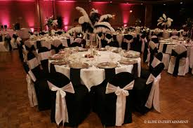 Silver Chair Covers Black Chair Covers Silver Sash White Table Weddings