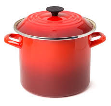 le creuset cherry red enamelled steel stockpot 28cm 15 1l