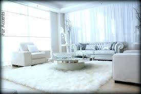 Sheepskin Area Rugs Sale 5x7 White Faux Fur Flokati Sheepskin Area Rug By Accents