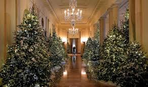 christmas tree house trees in the cross hall white house christmas 2017 pictures