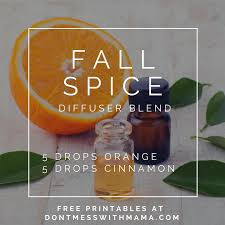 Fall Scents 10 Fall Essential Oil Diffuser Recipes Free Printable Don U0027t