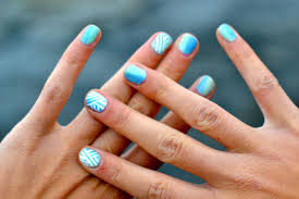 simple blue nail designs how you can do it at home pictures