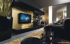 black and gold living room at contemporary living room design