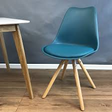 Coloured Leather Dining Chairs Mmilo Tulip Star Dining Chair With Cushioned Contemporary U0026 Wood