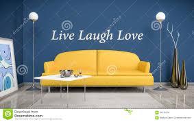 Orange Sofa Living Room by Orange Sofa In A Blue Room Stock Illustration Image 61616278