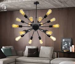 Big Iron Chandelier Unitary Brand Vintage Metal Large Chandelier With 18 Lights