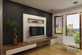 Bedroom Tv Unit Design White Tv Cabinet With Contrast Wallpaper Ipc338 Lcd Tv