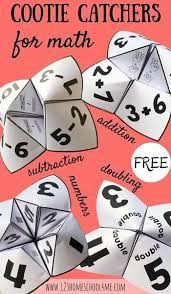 these free cootie catchers are fun math games great for practicing