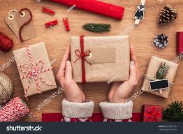 christmas gifts wrapping ideas packing perfect stock photo