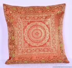 Brocade Home Decor Mandala Handmade Silk Brocade Cushion Cover 16 Home Decor Sofa