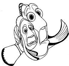finding nemo dory marlin sad finding nemo coloring pages