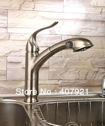 brushed nickel faucet with stainless steel sink exotic brushed nickel faucet kitchen single lever pull out spray