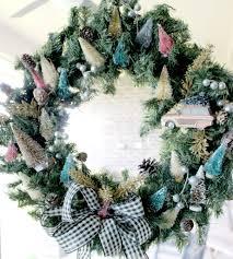 bottle brush tree wreath