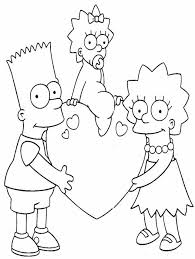 10 images simpsons car coloring pages free printable simpsons
