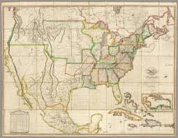 United States Map In Spanish by United States With The Contiguous British U0026 Spanish Possessions