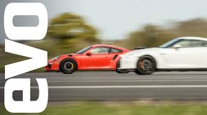 porsche gtr 4 nissan gt r vs porsche 911 gt3 rs which is fastest evo drag