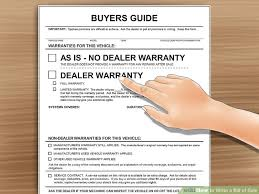 Auto Dealer Bill Of Sale Template by How To Write A Bill Of Sale With Pictures Wikihow