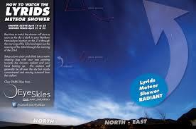 eyeskies how to watch the 2012 lyrids meteor shower