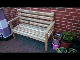 how to build a garden bench out of reclaimed wood step by step