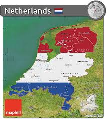 netherlands map flag free flag map of netherlands satellite outside