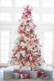 white christmas trees white christmas tree with decorations 6263