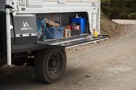 Truck Bed Trailer Camper Sherptek Unveils Modular Truck Bed System For Slide In Truck