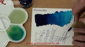 daler rowney fw ink prussian blue hue 320 youtube