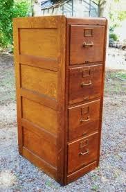 Oak Filing Cabinet Solid Wood Filing Cabinet Foter