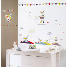 stickers chambre enfant luxe tinoo stickers muraux de sauthon baby