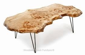 Slab Coffee Table Live Edge Slab Coffee Table Hair Pin Modern Legs Modern