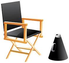Wooden Chair Clipart Png Directors Chair And Megaphone Png Clip Art Best Web Clipart