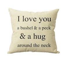 home decor pillows lovelyiva i love you a bushel and a peck sofa bed pillow case