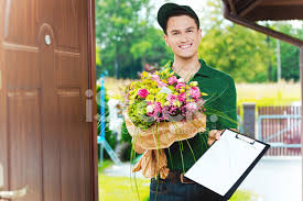 delivery flowers delivery delivering flowers stock photos freeimages